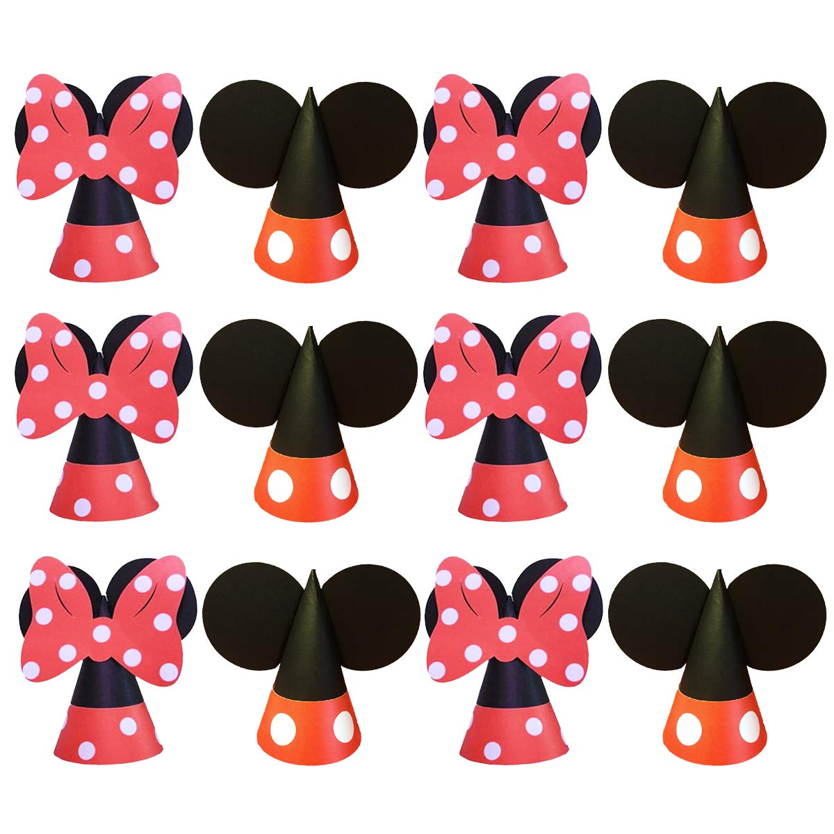 Amazon.com: Mickey Minnie Birthday Hats Party Supplies for ...