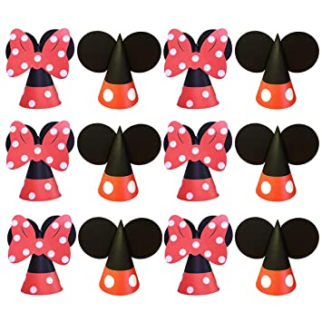 Jollyboom Mickey Minnie Birthday Hats Artículos de Fiesta ...