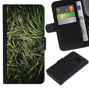 For Samsung Galaxy S6 SM-G920,S-type® Grass Nature Vignette Photo - Dibujo PU billetera de cuero Funda Case Caso de la piel de la bolsa protectora