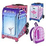 Zuca Ice Dreamz Insert Bag in Pink Frame (Full-Sized Sport) with Mini Ballerina Bag for Kids and Explorer Backpack