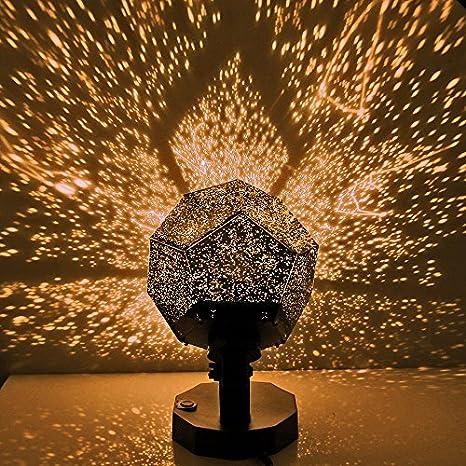 DIY Romantic Star proyector luz, ONEVER LED cielo de proyección ...