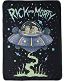 "RICK AND MORTY 46""x 60"" Fleece Throw Blanket - Novelty Home Accessories - Collectible Unique Gift for Birthdays, Holidays, House Warming Parties"