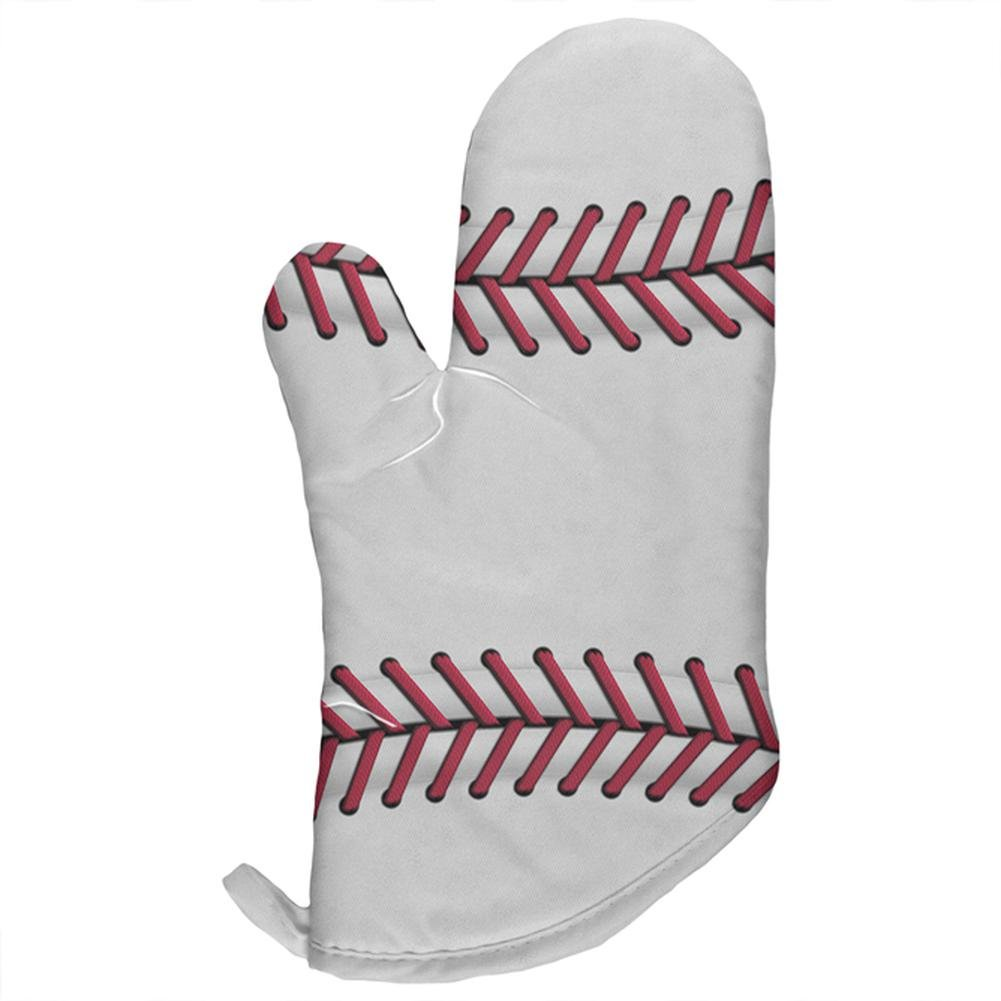 Old Glory Baseball All Over Oven Mitt Multi Standard One Size
