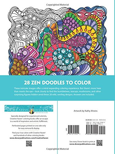 Amazon Creative Haven Dream Doodles A Coloring Book With Hidden Picture Twist Adult 0800759799022 Kathleen G Ahrens Books