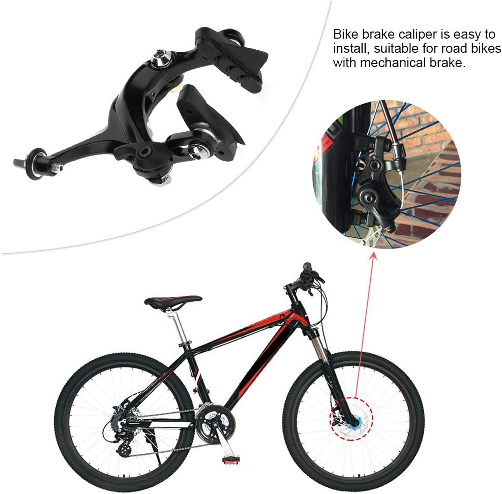 Tbest Juego de Frenos de Bicicleta de Pinza, 1 par Pinzas Freno para Bici Bicicleta de Carretera de montaña BMX MTB Forma de U de la Bicicleta Mecánico de Frenos de Doble