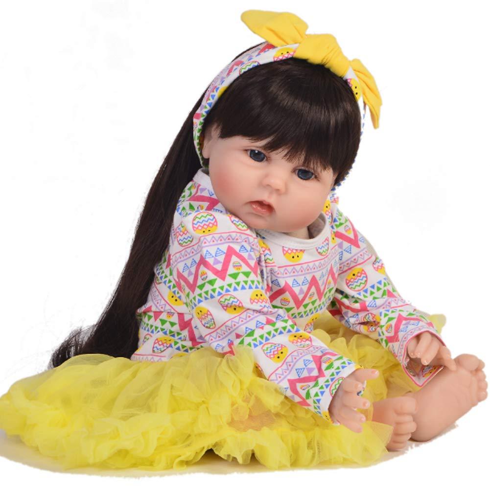 comprar nuevo barato NACHEN Renacimiento muñeca 55 55 55 cm simulación bebé Grandes Ojos adorables Pelo Largo niños niña muñecas Regalo de cumpleaños,color1,55cm  forma única