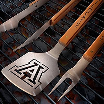 NCAA Alabama Crimson Tide 3PC BBQ Set, Heavy Duty Stainless Steel Grilling Tools