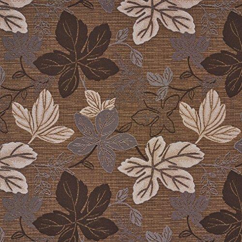 Nutmeg Leaf (Nutmeg Beige and Brown Leaf Foliage Damask Upholstery Fabric by the yard)