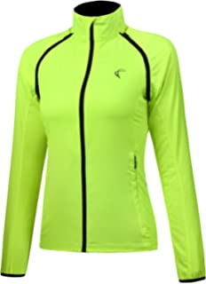 Shelcup Women s Windproof Water Resistant Convertible Cycling Running Jacket dd55a1a0b