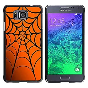 Jordan Colourful Shop - Spider Web Halloween Orange For Samsung ALPHA G850 Custom black plastic Case Cover