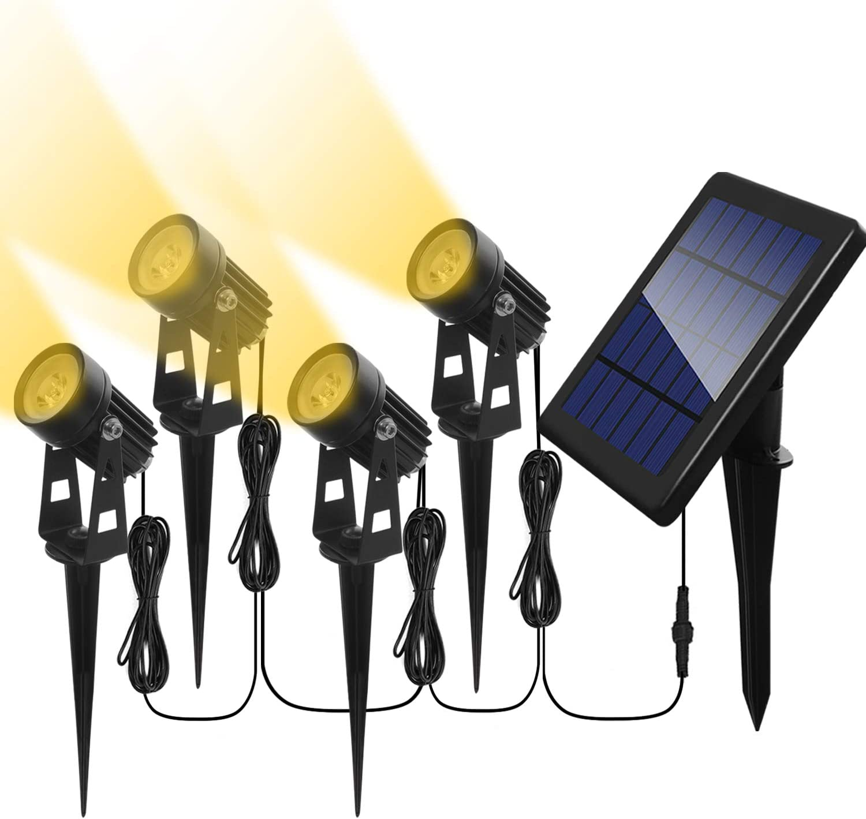 Proyector solar LED para exteriores, 4 Projecteurs: Amazon.es ...