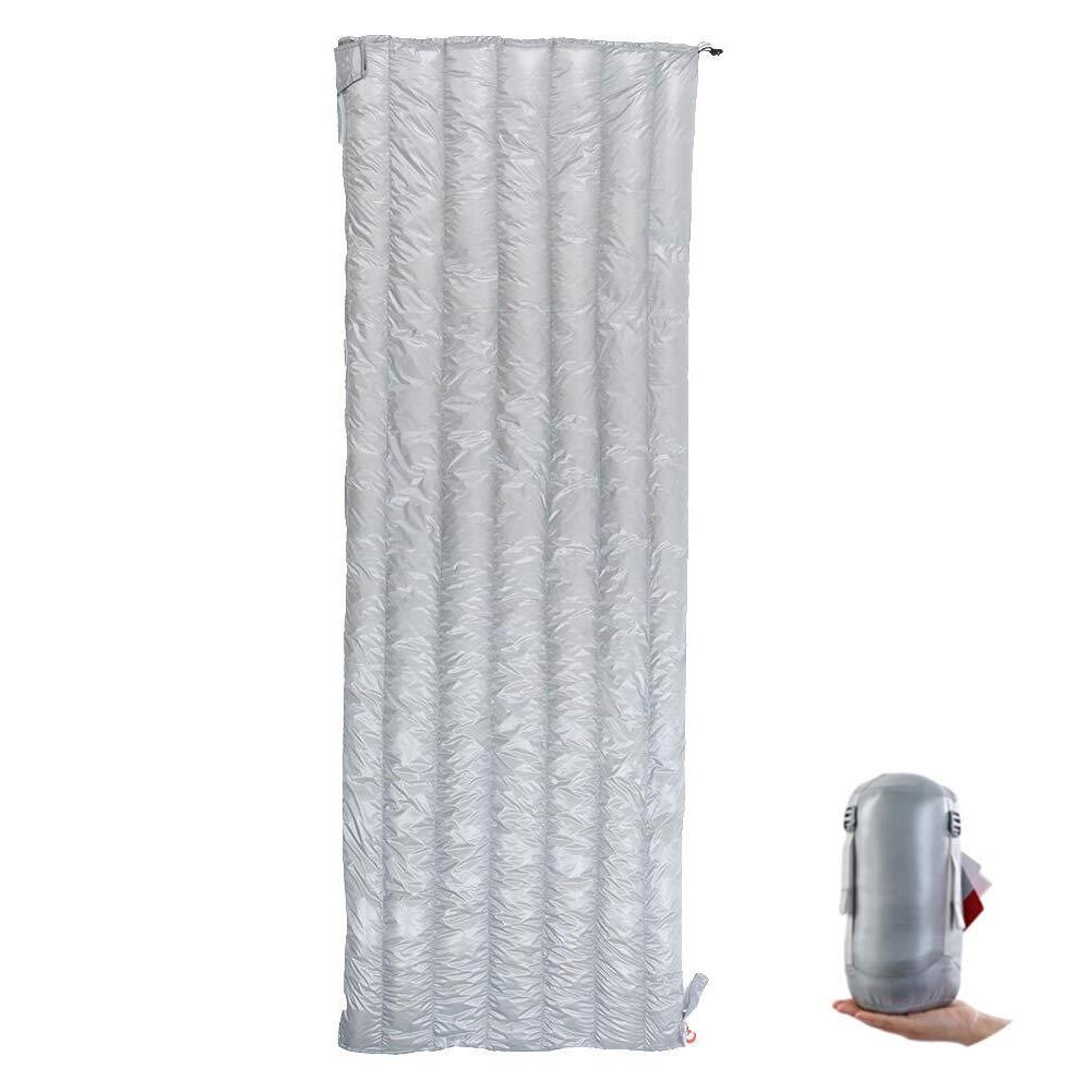 寝袋 ダウンシュラフ 超軽量508g 高級ダウン 羽毛 スリーピングバッグ 封筒型 室内 アウトドア 登山 キャンプ 防災 車中泊 [適応温度5~15度] B07MP7D4FT