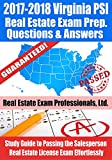 2017-2018 Virginia PSI Real Estate Exam Prep Questions and Answers: Study Guide to Passing the Salesperson Real Estate License Exam Effortlessly