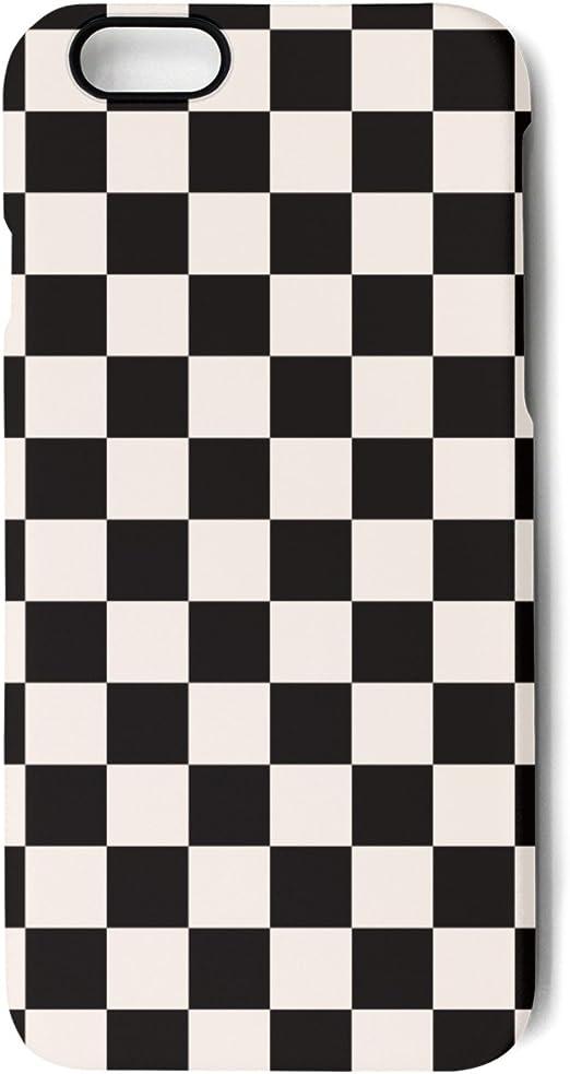 Yuech iPhone 7 Plus Coque, iPhone 8 Plus Coque Noir à carreaux ...