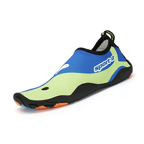 SAGUARO® Verano Aquashoes Zapatos de Agua Zapatillas de Playa Secado Rápido Calcetines de Natación Calzado de Surf acuàticos deporte Hombre Mujer Verde 39 O2rHqJ5Xs