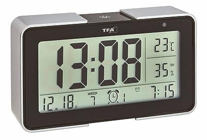 TFA Dostmann 60.2540 Despertador electrónico Melody con diferentes tonos de alarma (Negro con baterías)