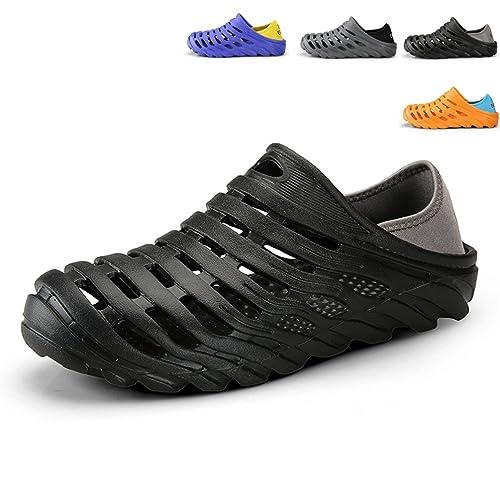 51f7e393c9db17 Sherry Love Mens Sandals Summer Breathable EVA Sandals Beach Shoes  Anti-Slip Garden Clog Shoes