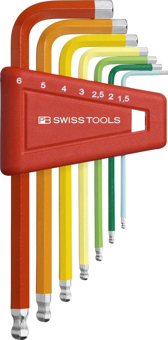 PB Swiss Tools PB 212H-6 RB Ballend Hex Key Set rainbow by PB Swiss