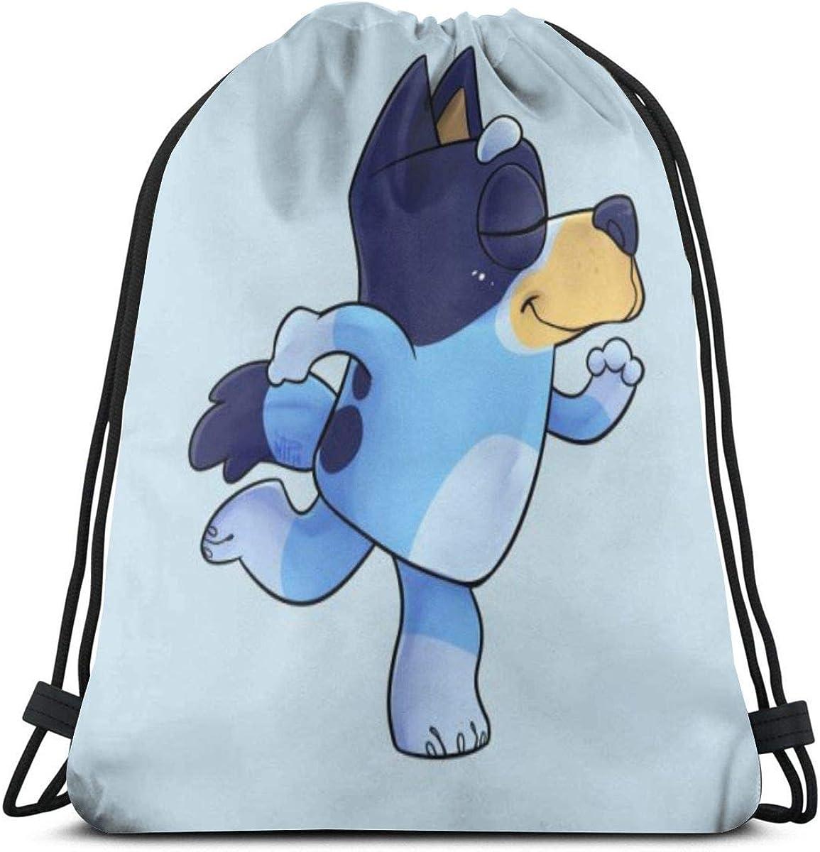 GHK Blueys-Dance-cartoon Waterproof Drawstring Backpack Bulk Bundle Beachu Sackpack Bag For Men And Women Kids