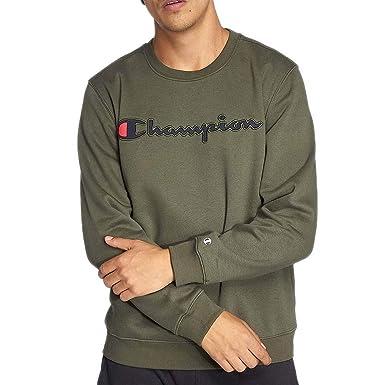 Champion Comfortfit Camiseta Manga Larga Hombre Verde: Amazon.es: Ropa y accesorios
