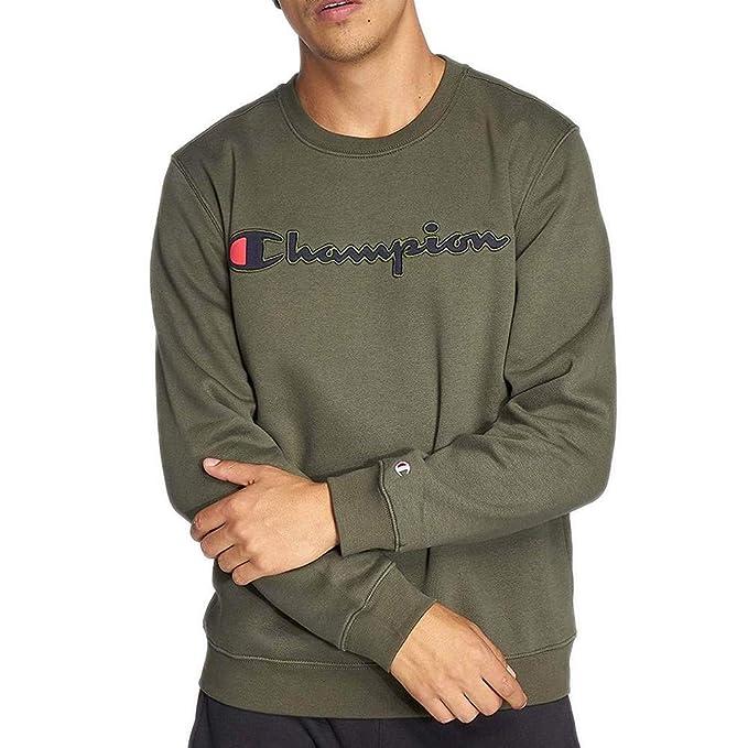 Champion Comfortfit Camiseta Manga Larga Hombre Verde  Amazon.es  Ropa y  accesorios e35fe20707613