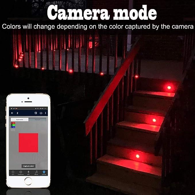 Foco LED empotrable Bluetooth RGB, 6 focos de pie, luz ajustable (RGB), impermeable, IP67, 0,5 W, diámetro de 45 mm, iluminación para terraza, cocina, jardín, lámpara LED: Amazon.es: Bricolaje y herramientas