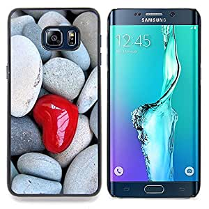 - Love Heart & Stone/ Hard Snap On Cell Phone Case Cover - Cao - For Samsung Galaxy S6 Edge Plus