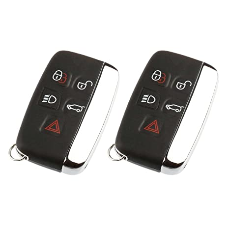 Key Fob Keyless Entry Remote fits Land Rover Range Rover Sport LR2 LR4  Evoque 2012 2013 2014 2015 2016 2017 (KOBJTF10A), Set of 2
