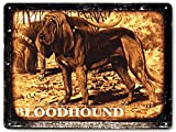 Bloodhound hunting dog metal sign / funny pet shop vintage style wall decor art 321