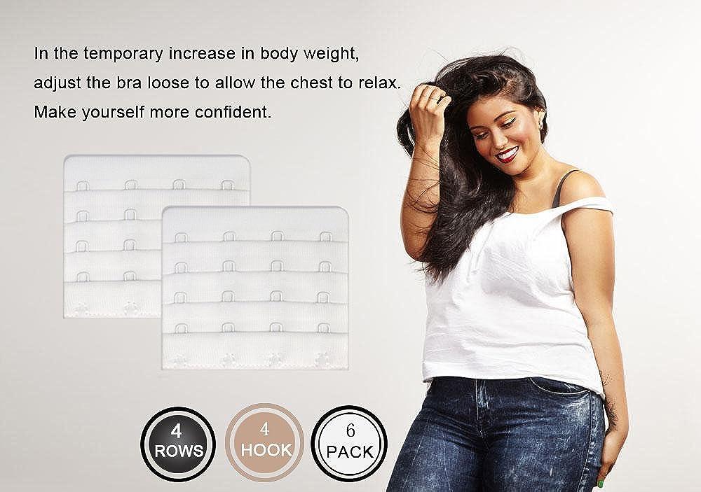 Womens Bra Extenders 4 Hook for Plus Size Bras Extenders Bra Strap Extensions