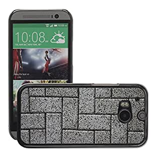 Hot Style Cell Phone PC Hard Case Cover // M00153185 Stone Texture Background Stones Wall // HTC One M8