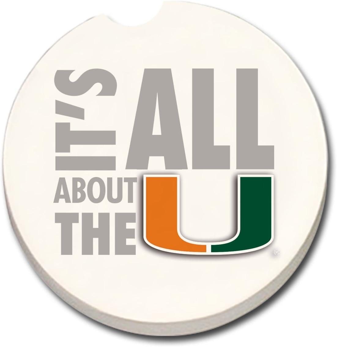 Universidad de Miami ventilador coche posavasos: Amazon.es: Hogar