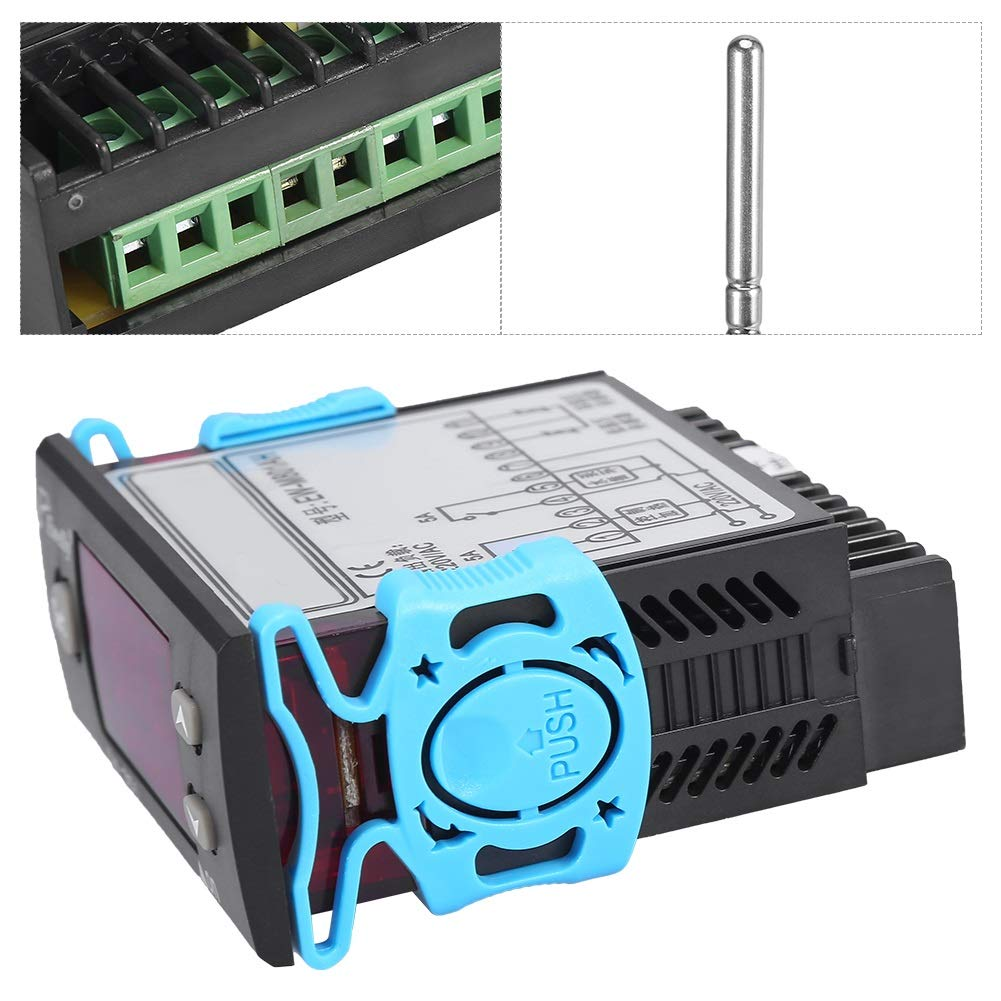 termostato del controlador de temperatura del calentador de agua solar con sensor Pantalla digital Controlador de temperatura la diferencia de temperatura y la temperatura para controlar la salida