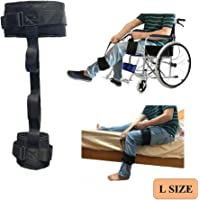 Thigh Lifter Leg Strap Lifting Foot Legs up Ankle Ring Lift Feet Straps Adjustable Waist Belt Foot Lifters Mobility Aids Used with Crutches Walking Assistant for Elderly Handicapped Disabled Users (L)