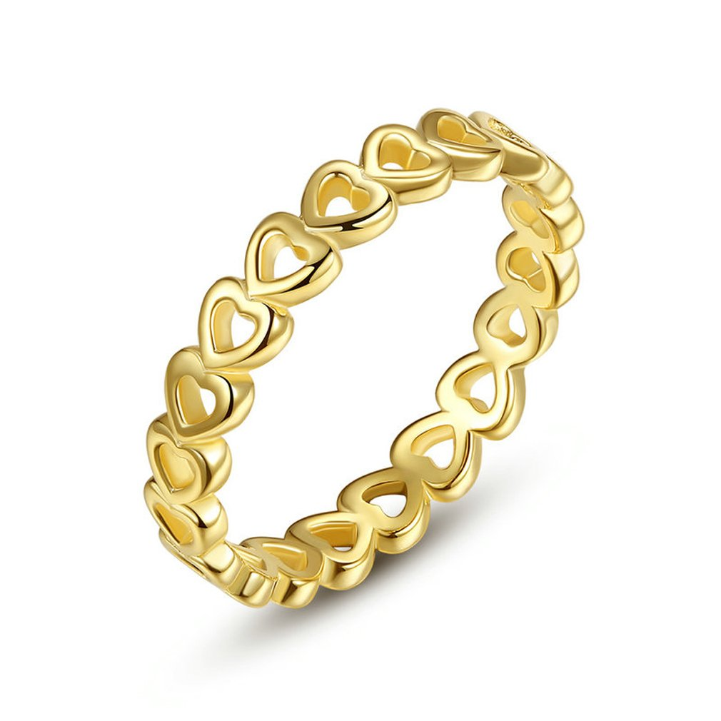 Everbling Linked Love 925 Sterling Silver Stackable Ring by Everbling (Image #1)