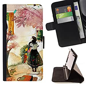 Jordan Colourful Shop - woman fashion abstract painting For Samsung Galaxy S6 EDGE - Leather Case Absorci???¡¯???€????€????????