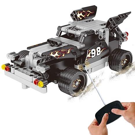 85b3dd2bd28 Amazon.com  BIRANCO. RC Race Car Toys - Racer Building Blocks Kit ...