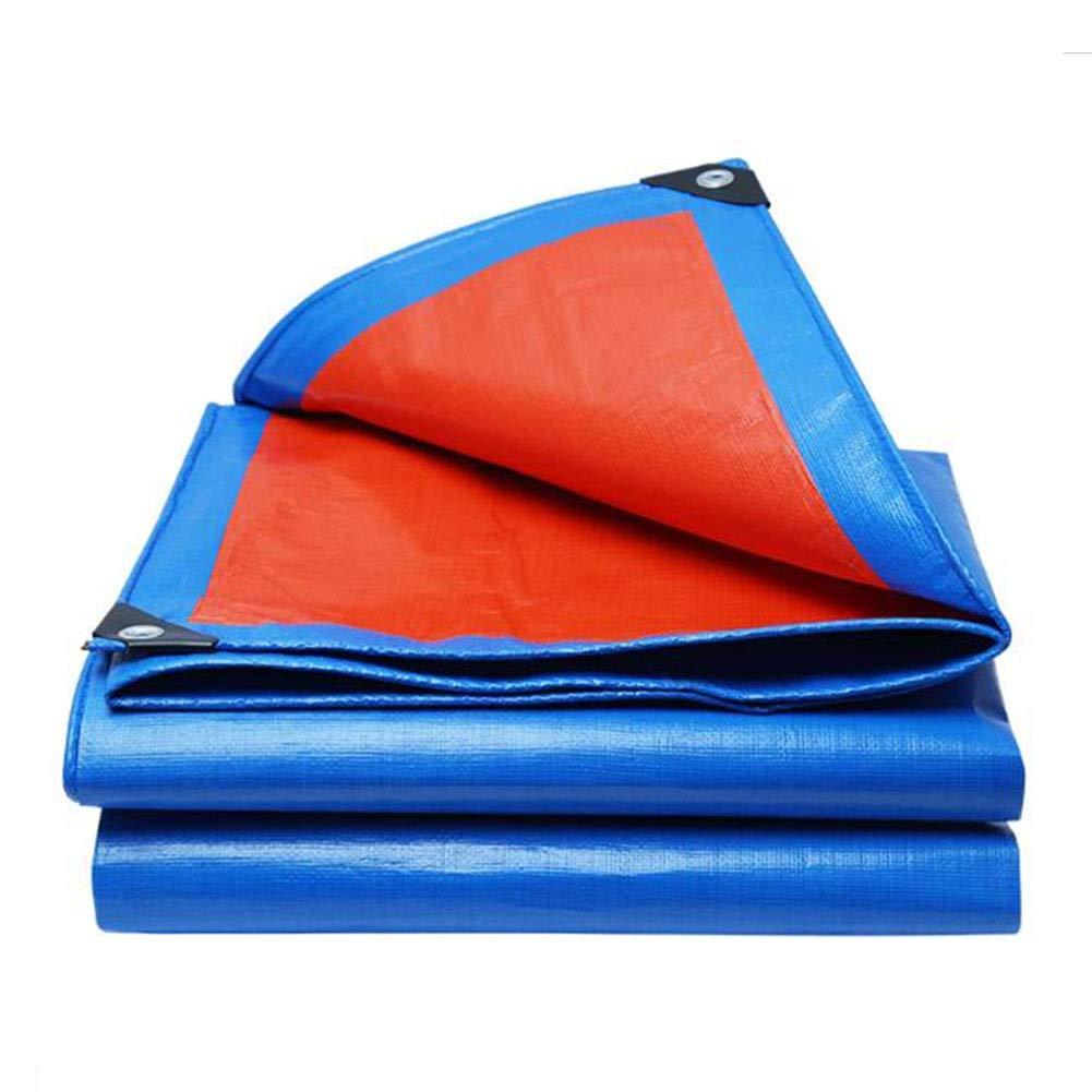 DALL ターポリン 厚さ0.28mm 160g /㎡ 防水 レインプルーフ 日焼け止め 防塵 折りたたみ式 PEタープ メタルバックル (Color : 青, Size : 8×10m) 青 8×10m