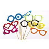 Hand Painted Wooden Photo Booth Glasses Set (8 Per Set)