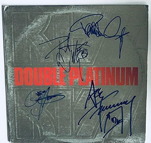 Kiss Signed Album Double Platinum Group Autographed Gene Simmons Paul Stanley Ace Peter Criss