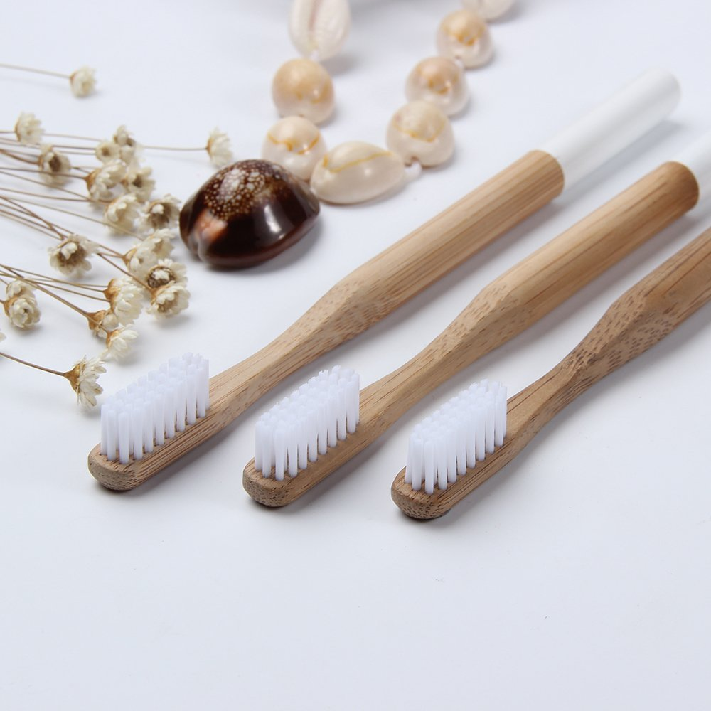 BEAYPINE Natural Bamboo Toothbrush Biodegradable Dental Care