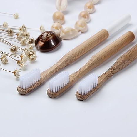BEAYPINE - Cepillo de Dientes de bambú Natural Biodegradable