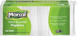 product image for Marcal 6506 100% Recycled Luncheon Napkins, 12 1/2 x 11 2/5, White, 2400/Carton