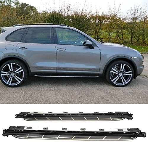 Running Board Fits 2011-2017 Porsche Cayenne | Factory Style Side Step Nerf Bar Aluminum by IKON MOTORSPORTS | 2012 2013 2014 2015 -