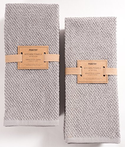 KAF Home Pantry Montclair Kitchen Towels (Set of 8, 16x26 inches), 100% Cotton, Ultra Absorbent Terry Towels - Drizzle by KAF Home (Image #1)