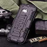 HTC One M8 Case, Cocomii Robot Armor NEW [Heavy Duty] Premium Belt Clip Holster Kickstand Shockproof Hard Bumper Shell [Military Defender] Full Body Dual Layer Rugged Cover (Black)