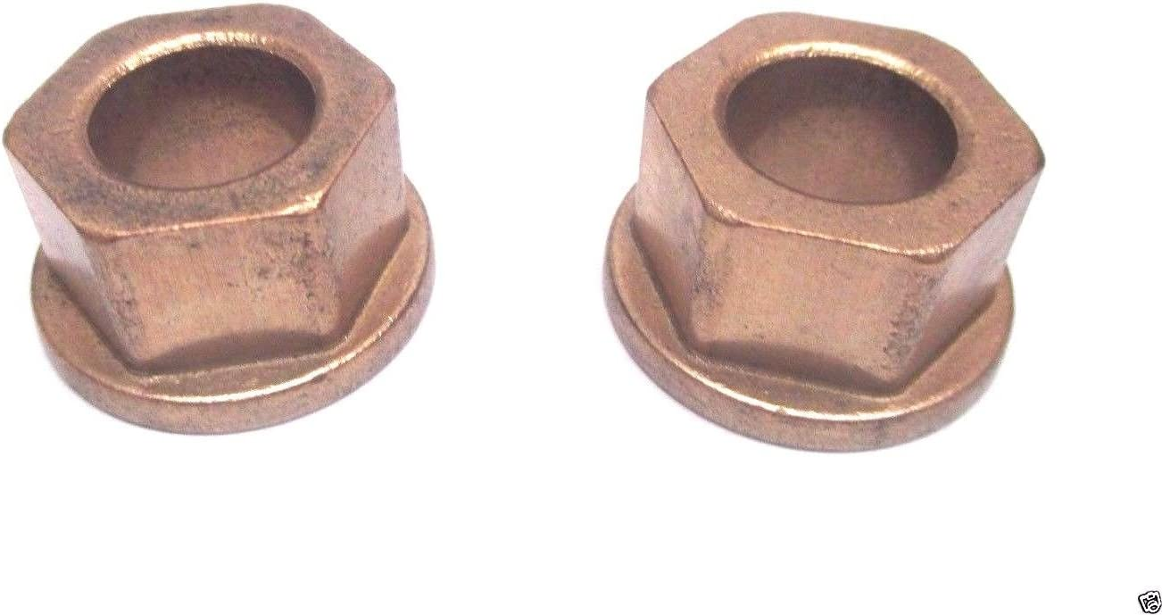 2 Pack Genuine MTD 741-04237B Hex Flange Bearing Fits Craftsman Troy-Bilt OEM