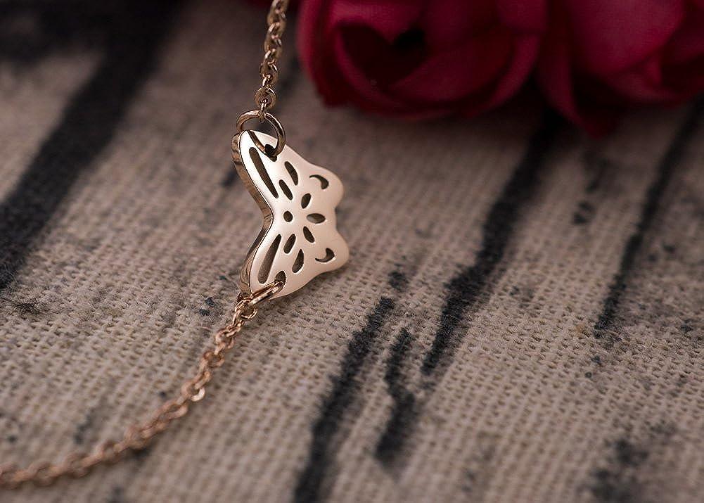 WDSHOW Ankle Bracelets for Women Girls Butterfly Charm