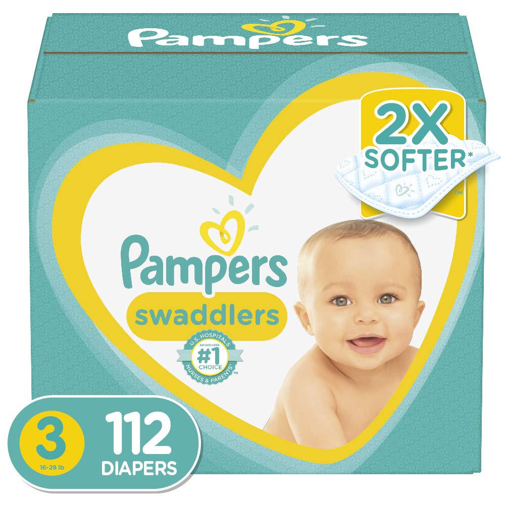 Diapers Size 3, 112 Count – Pampers Swaddlers Disposable Baby Diapers, Giant Pack