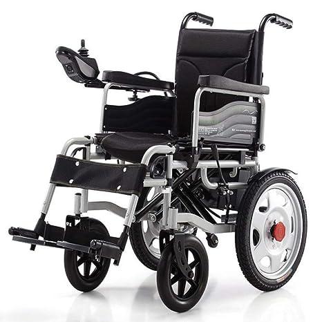 Admier Silla de Ruedas eléctrica Plegable Ligero Completo Inteligente Powerchair Super Resistencia más Seguro Ancianos discapacitados Negro: Amazon.es: ...